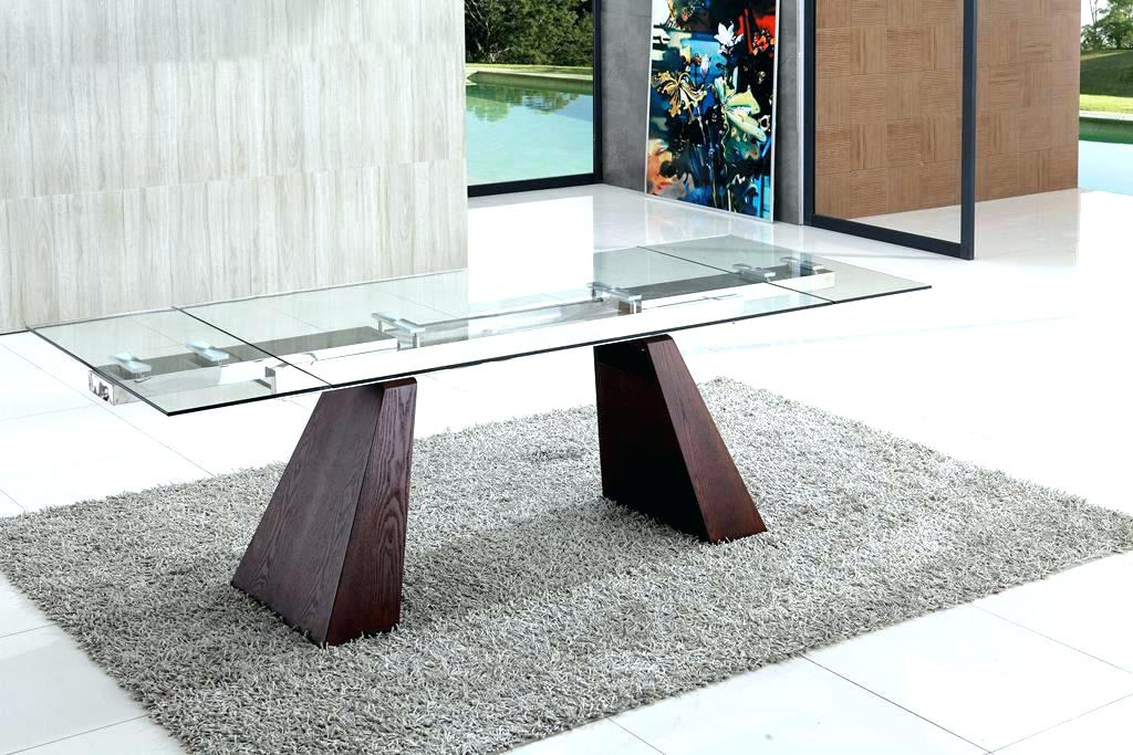 Most Recent Extendable Glass Dining Table Modern Glass Dining Room Tables With Regard To Extendable Glass Dining Tables (View 13 of 20)