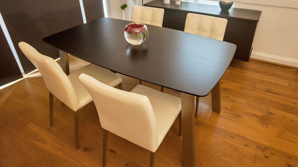 Most Recent Extending Dark Wood 8 Seater Dining Table (View 3 of 20)