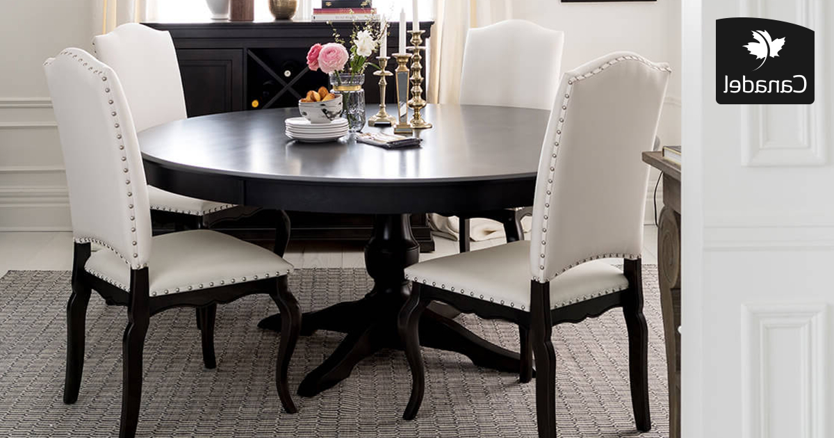 Most Recent Handcrafted In North America – Kitchen And Dining Room – Canadel With Grady Round Dining Tables (View 15 of 20)
