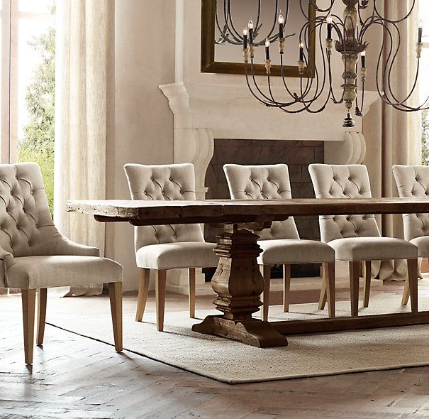 Most Recent Helms 6 Piece Rectangle Dining Sets With Side Chairs With Regard To Trestle Salvaged Wood Extension Dining Tables (View 15 of 20)
