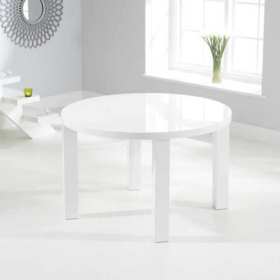 Most Recent High Gloss Round Dining Tables Within Corano Modern Dining Table Round In White High Gloss  (View 12 of 20)