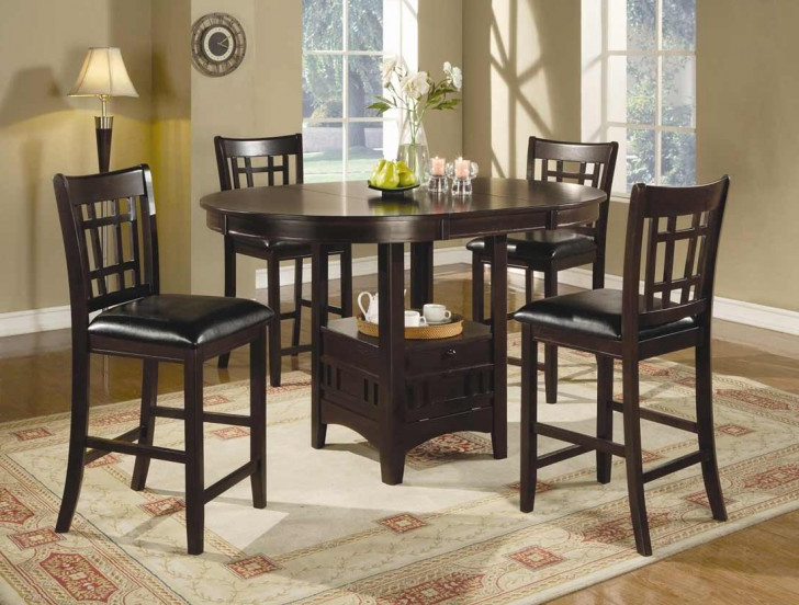 Most Recent Hyland 5 Piece Counter Sets With Stools Intended For Bar Height Table And Chairs : Contemporary Dinette Decoration With (View 13 of 20)