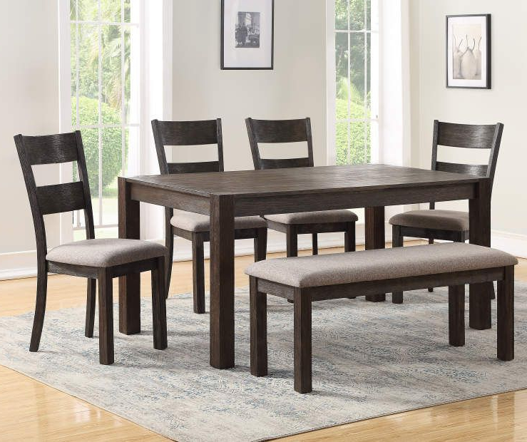 Most Recent I Found A Stratford Hayden 6 Piece Dining Set With Bench At Big Lots Intended For Lassen 7 Piece Extension Rectangle Dining Sets (View 2 of 20)
