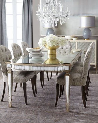 Most Recent John Richard Collection Cara Dining Chair & Eliza Antiqued Mirrored Intended For Mirrored Dining Tables (View 9 of 20)