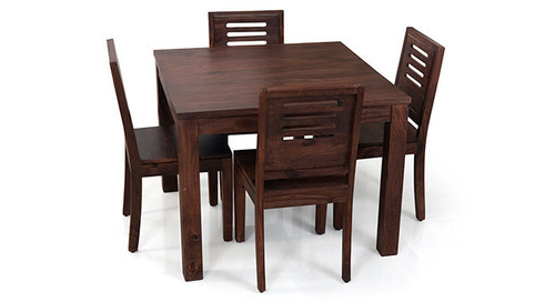 Most Recent Kings Crafts Co Dark Brown 4 Seater Dining Table Set, Rs 16000 /set With Dark Brown Wood Dining Tables (View 13 of 20)