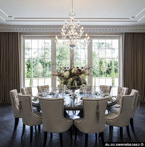 Most Recent Lassen 5 Piece Round Dining Sets In Mansion With Cinema, Pool And 1,700 Bottle Cellar On Sale For £ (View 12 of 20)