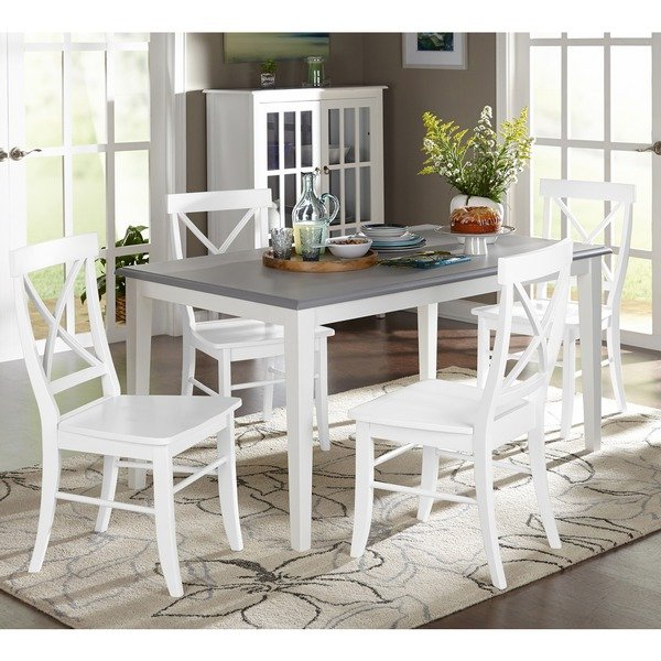 Most Recent Laurent 5 Piece Round Dining Sets With Wood Chairs In Shop Simple Living 5 Piece Helena Dining Set – On Sale – Free (View 9 of 20)