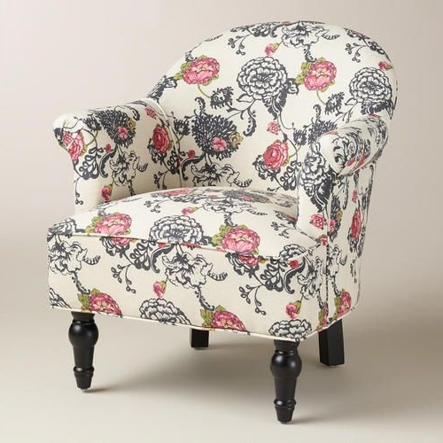 Most Recent Laurent Floral Lorna Chair From Cost Plus World Market (View 11 of 20)