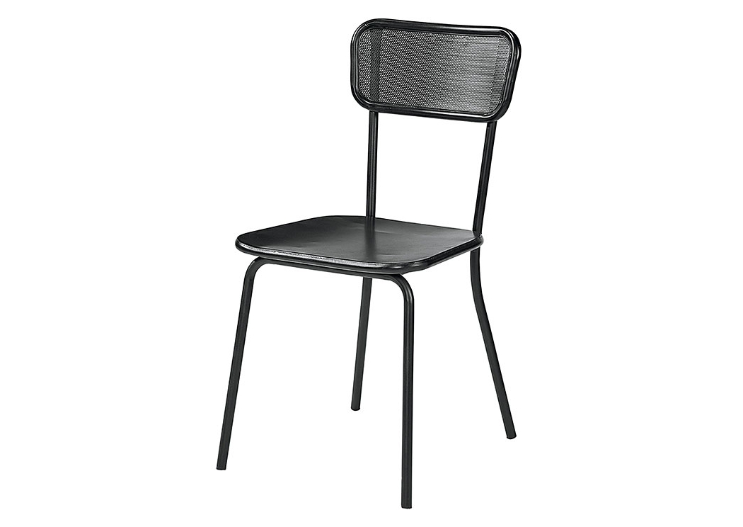 Most Recent Magnolia Home Contour Milk Crate Side Chairs Within Penland's Furniture Method Mesh Back Chair, Kettle Finish (set Of 2) (View 6 of 20)