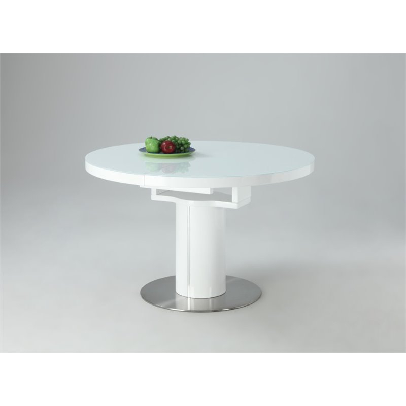Most Recent Nora Dining Tables Within Chintaly Imports Round Dining Table In White – Nora Dt Wht (View 7 of 20)
