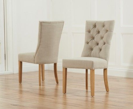 Most Recent Oak Fabric Dining Chairs Throughout Buy The Anais Fabric Dining Chairs At Oak Furniture Superstore (View 3 of 20)