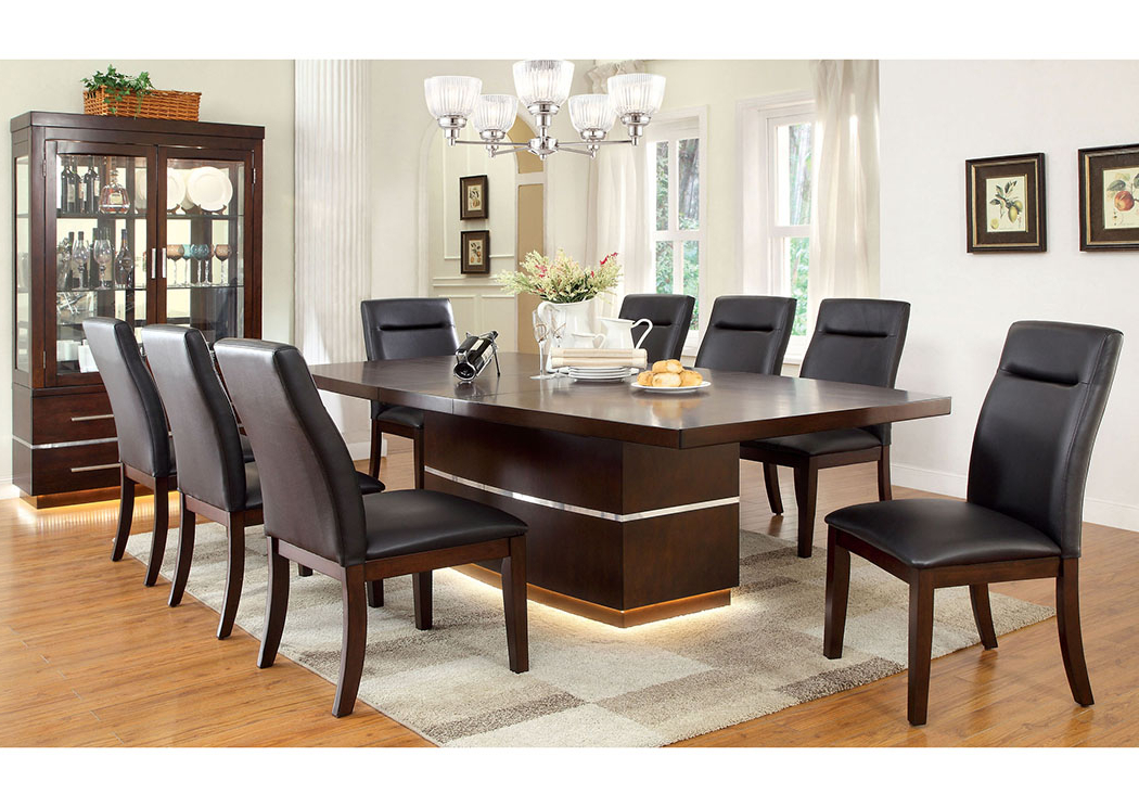 Most Recent Price's Home Furnishings Lawrence Dark Cherry Extension Dining Table Pertaining To Craftsman 7 Piece Rectangle Extension Dining Sets With Side Chairs (View 16 of 20)