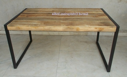Most Recent Reclaimed Mango Wood Dining Table With Metal Legs – Garud Within Mango Wood/iron Dining Tables (View 8 of 20)