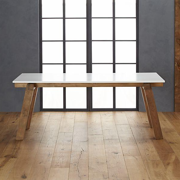 Most Recent Riviera Rectangular White Top Wood Bottom Dining Table For Dining Tables With White Legs And Wooden Top (View 15 of 20)