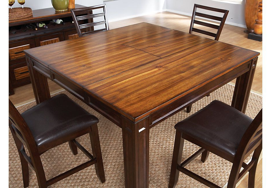 Most Recent Rocco 8 Piece Extension Counter Sets With Adelson Chocolate Square Counter Height Dining Table – Dining Tables (View 12 of 20)
