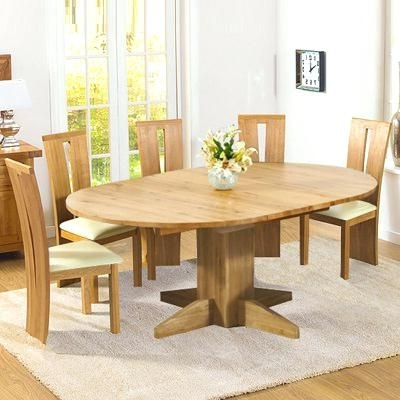 Most Recent Round Extending Oak Dining Table And Chairs – Kuchniauani With Circular Extending Dining Tables And Chairs (View 12 of 20)