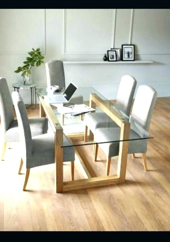 Most Recent Round Glass And Oak Dining Table – Tinvietkieu Intended For Oak And Glass Dining Tables And Chairs (View 8 of 20)