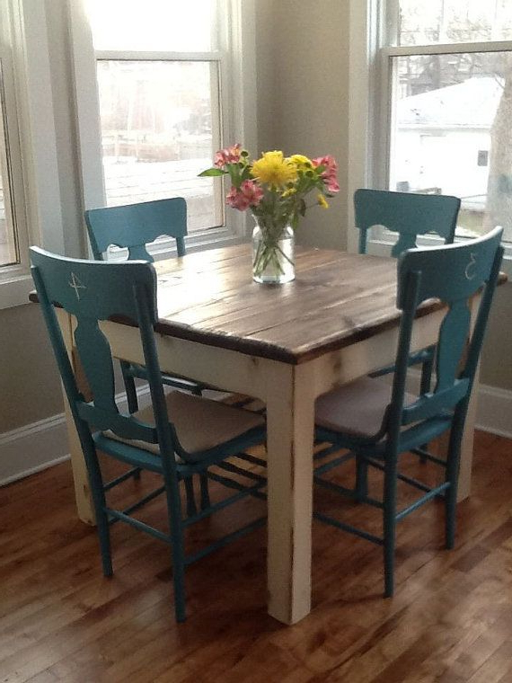 Most Recent Rustic Farmhouse Table Small Kitchen Dining Farm House Reclaimed Inside Small Dark Wood Dining Tables (View 14 of 20)