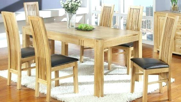 Most Recent Scenic Light Oak Table And 6 Chairs Dining Extending Set With In With Light Oak Dining Tables And 6 Chairs (View 12 of 20)