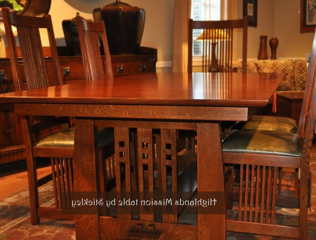Most Recent Stickley Mission – Craftsman – Dining Room – Wichita Traditions With Regard To Craftsman Side Chairs (View 14 of 20)