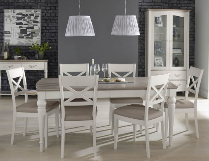 Most Recent Walden Extension Dining Tables Within Montreux Grey Two Tone 180 Cm Extending Dining Set (View 9 of 20)