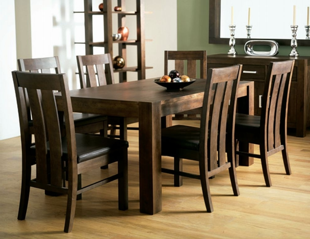 Most Recent Walnut Dining Tables And Chairs With Walnut Dining Room Chairs (View 9 of 20)