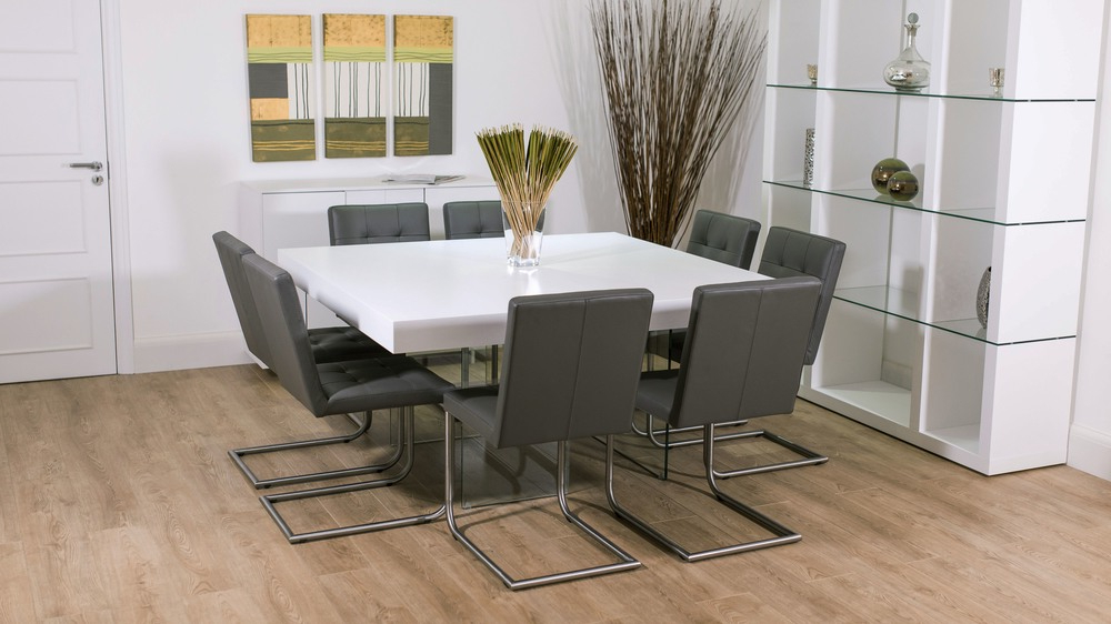 Most Recent White Square Dining Table For  (View 7 of 20)