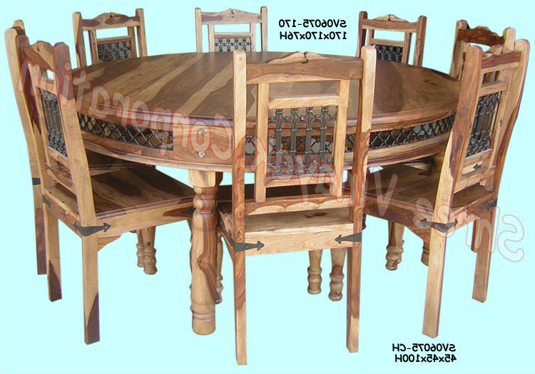 Most Recent Wooden Dining Table Set,sheesham Wood Furniture – Buy Sheesham Wood Inside Sheesham Wood Dining Chairs (Gallery 10 of 20)