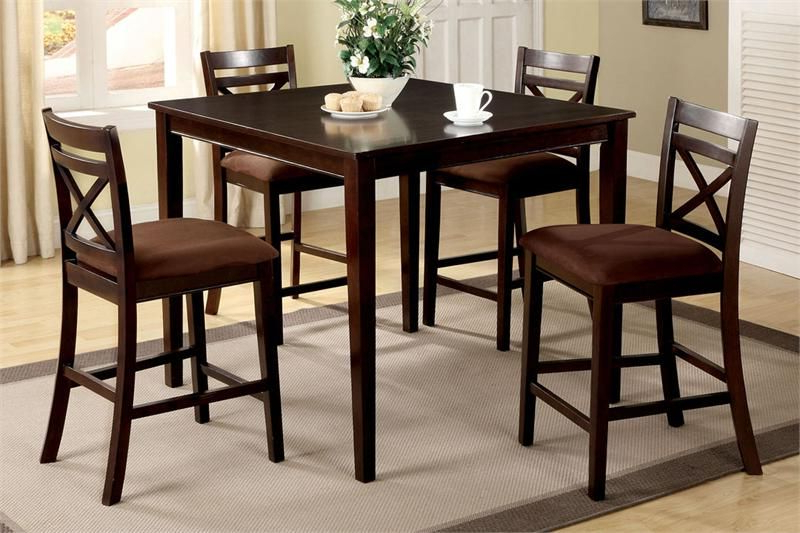 """Most Recently Released 42"""" Weston Ii Square Espresso Counter Height Set (View 7 of 20)"""