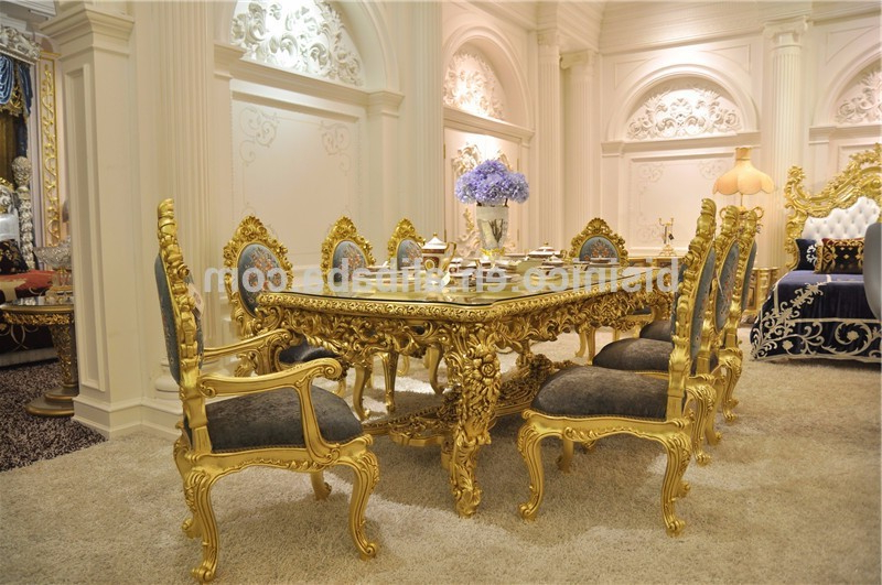Most Recently Released Antique Carved Dining Table Set,gorgeous Luxury Glass Top Dining Within Royal Dining Tables (View 8 of 20)