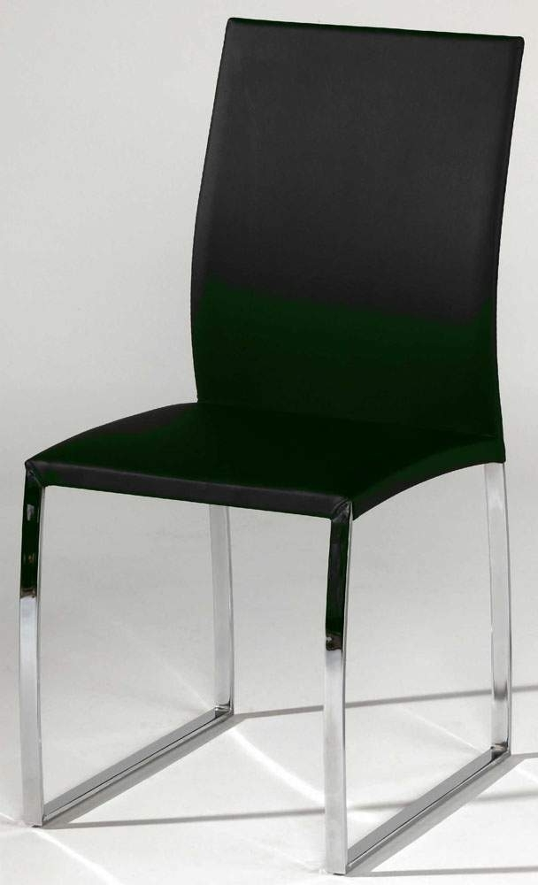 Most Recently Released Black Or Taupe Leather Dining Chair With Brilliant Chrome Base With Chrome Leather Dining Chairs (View 20 of 20)