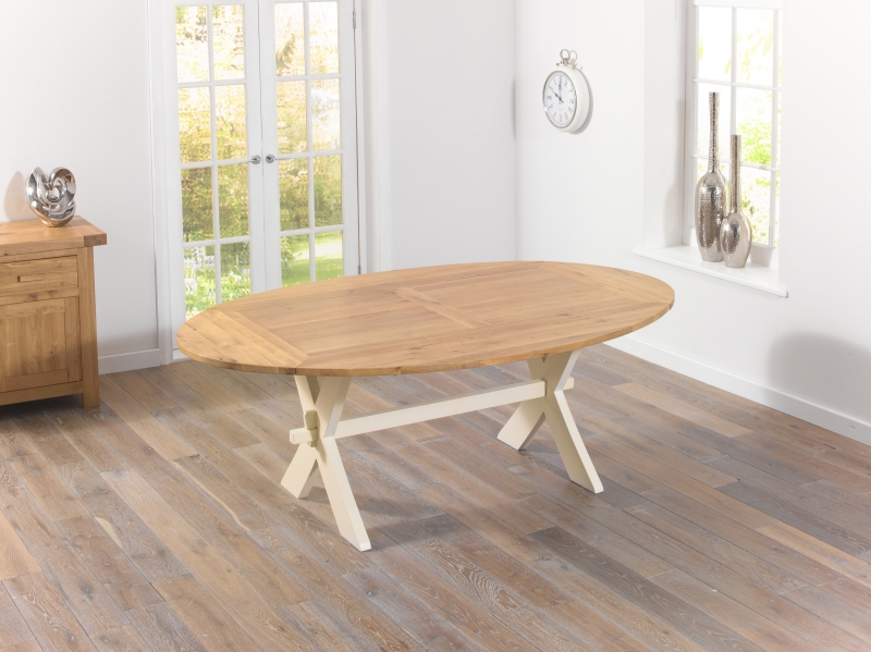 Most Recently Released Buy Mark Harris Avignon Oak And Cream Rectangular Extending Dining Within Cream And Oak Dining Tables (View 11 of 20)