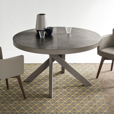 Most Recently Released Calligaris Tivoli Round Extending Dining Table – Ceramic Top With Round Extending Dining Tables (View 8 of 20)