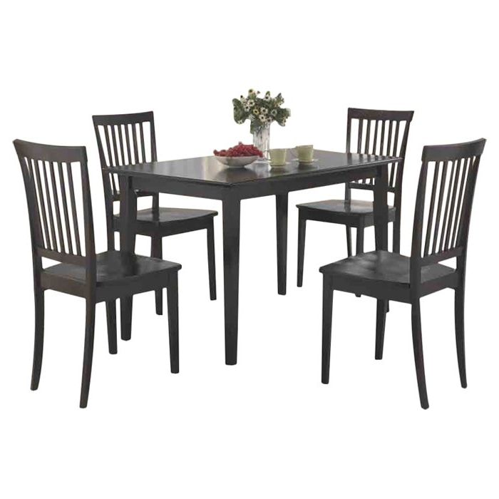 Most Recently Released Candice Ii 7 Piece Extension Rectangular Dining Sets With Slat Back Side Chairs Intended For Red Barrel Studio Holcomb 5 Piece Dining Set & Reviews (View 14 of 20)