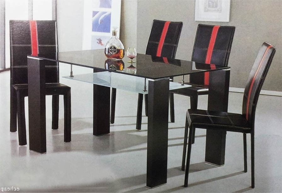 Most Recently Released Cheap Glass Dining Table With 6 Chairs 7 Pieces Set Sydney Warehouse Throughout Cheap Glass Dining Tables And 6 Chairs (View 4 of 20)