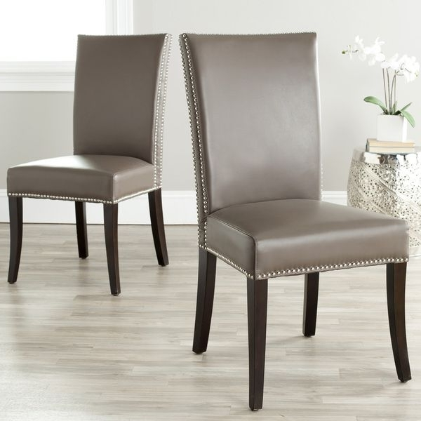Most Recently Released Clay Side Chairs Intended For Safavieh Metro Clay Leather Side Chairs (Set Of 2) – Overstock (View 13 of 20)