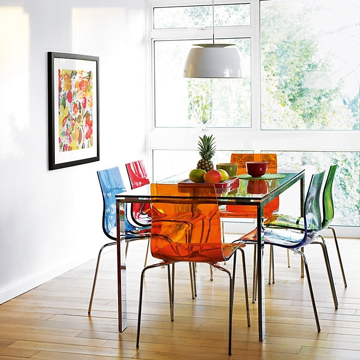 Most Recently Released Colourful Dining Tables And Chairs In Colourful Contemporary Dining: Frost Dining Table And Gel, Colorful (View 11 of 20)