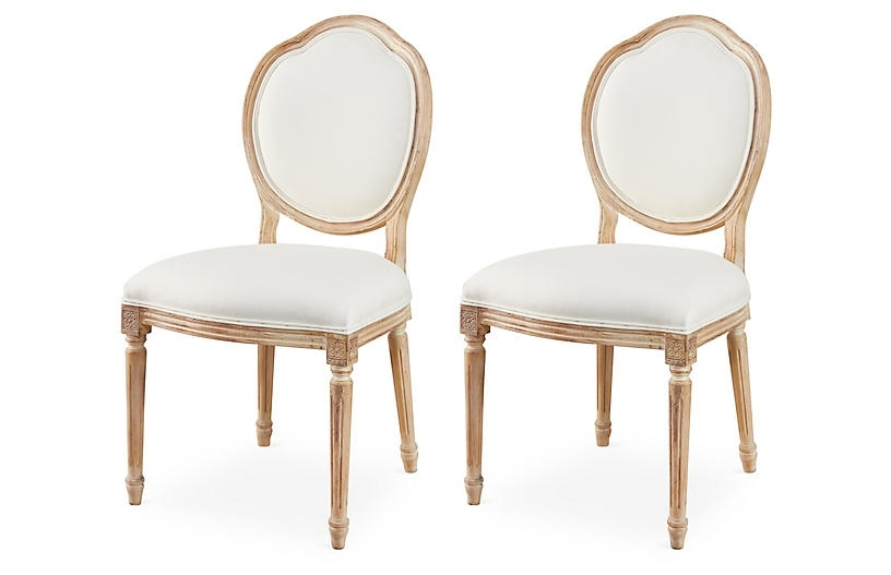 Most Recently Released Cora Side Chairs In Cora Linen Side Chairs, Pair – The Hamptons Kitchen – Week  (View 15 of 20)