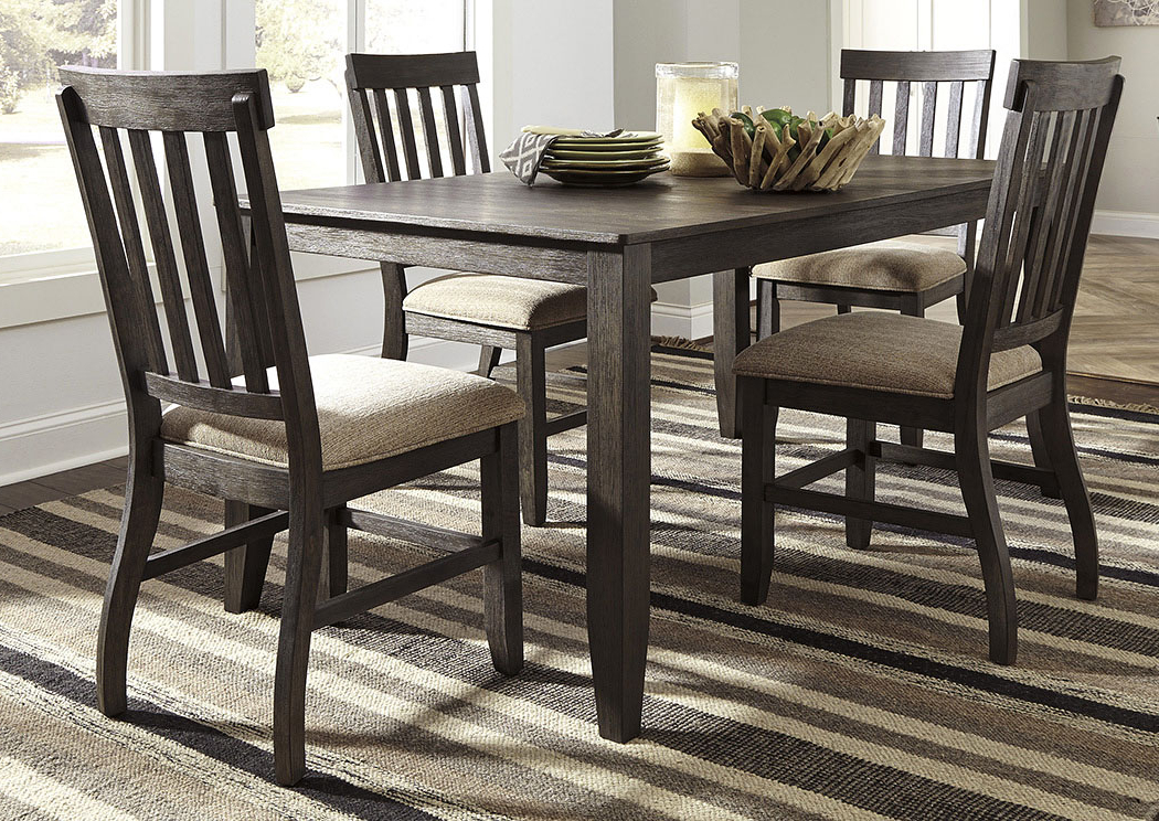 Most Recently Released Craftsman 5 Piece Round Dining Sets With Uph Side Chairs With Scott's Furniture Dresbar Grayish Brown Rectangular Dining Room (View 15 of 20)