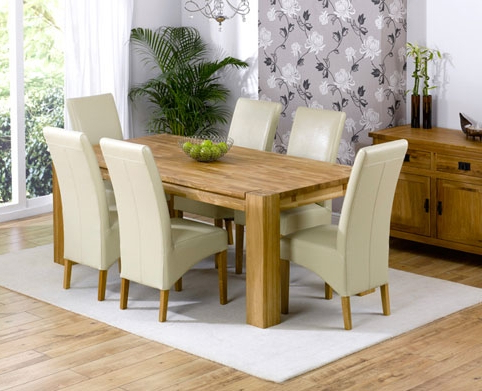 Most Recently Released Cream Dining Tables And Chairs Throughout  (View 13 of 20)