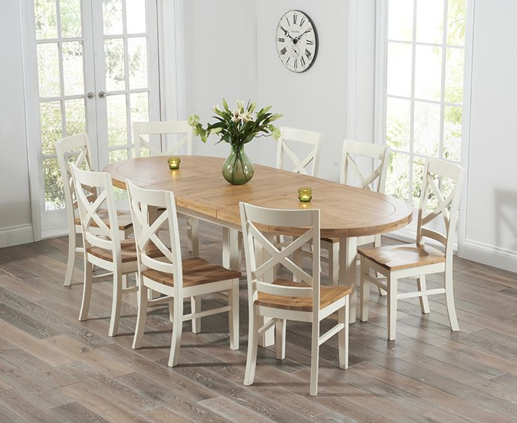 Most Recently Released Cream Dining Tables And Chairs With Regard To Buy The Chelsea Oak & Cream Extending Dining Table With Cavendish (View 14 of 20)