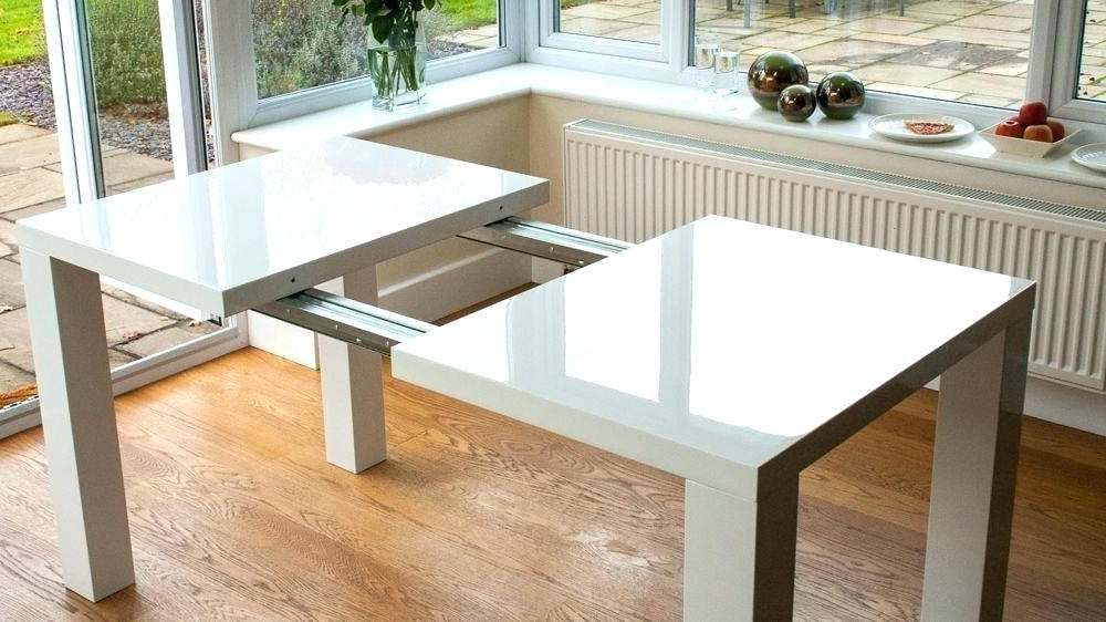 Most Recently Released Dining Table Expandable Extendable Square Dining Table Expandable Within Square Extendable Dining Tables And Chairs (View 7 of 20)