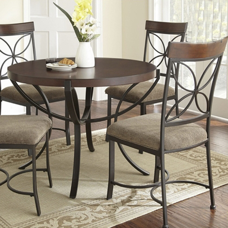Most Recently Released Dining Table Wrought Iron Dining Wrought Iron Dining Space Saving Within Smartie Dining Tables And Chairs (View 9 of 20)