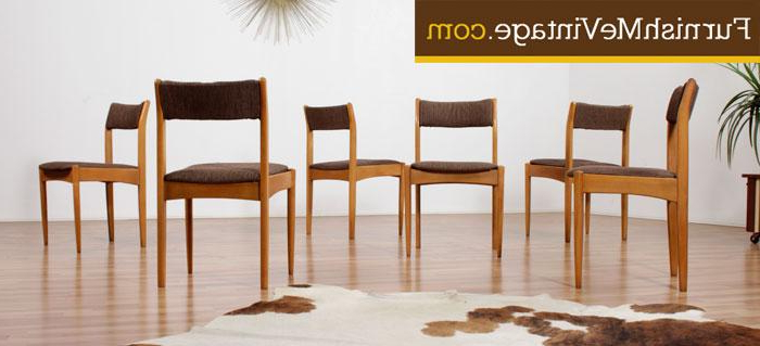 Most Recently Released Glasgow Dining Sets With Set Of (6) Mid Century Morris Of Glasgow Dining Chairs (View 14 of 20)