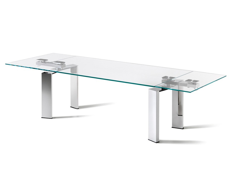 Most Recently Released Glass And Stainless Steel Dining Tables In Daytona Rectangular Dining Tablecattelan Italia – Dining Tables (View 16 of 20)