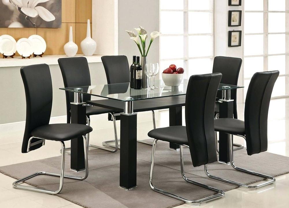 Most Recently Released Glass Dining Table Sets How To Clean Furniture Black Round Top Set 6 Pertaining To 6 Seater Glass Dining Table Sets (View 14 of 20)