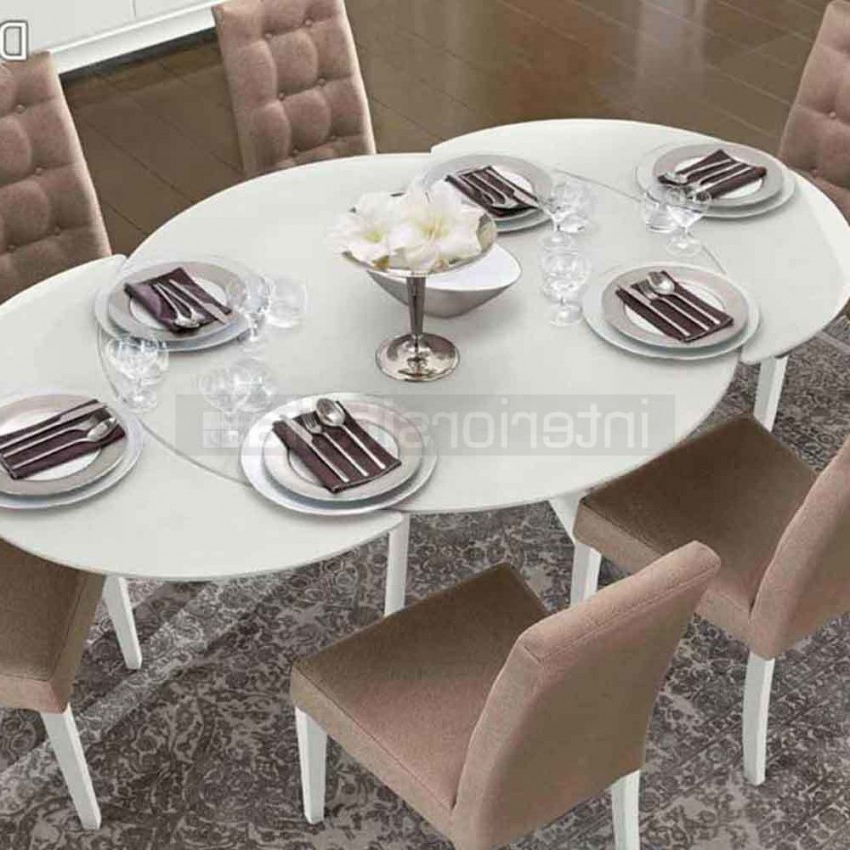 Most Recently Released Glass Round Extending Dining Tables Intended For Glass Dining Table (View 9 of 20)