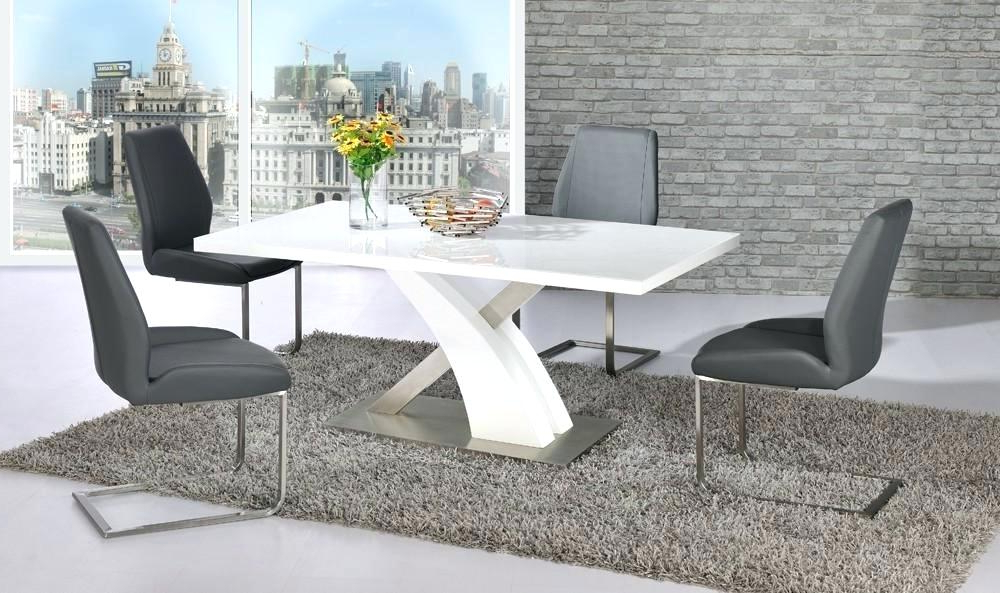 Most Recently Released Gloss Dining Tables Sets Within High Gloss Dining Table Sets Best White High Gloss Extending Dining (View 14 of 20)