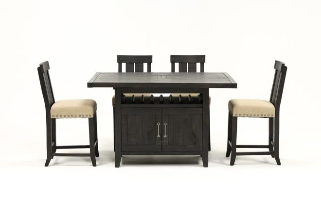 Most Recently Released Jaxon Grey 5 Piece Extension Counter Sets With Wood Stools With Jaxon 5 Piece Extension Counter Set W/wood Stools (View 14 of 20)