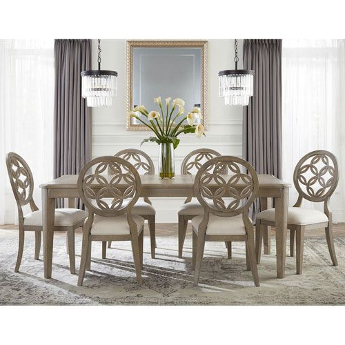Most Recently Released Jaxon Grey 7 Piece Rectangle Extension Dining Sets With Wood Chairs Throughout Whittier 7 Piece Dining Set (View 14 of 20)